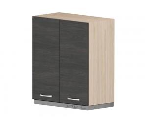 Кухненски горен шкаф за аспиратор Дорина G17 с врати 60 см. - рокфорд лайт/дъб карбон