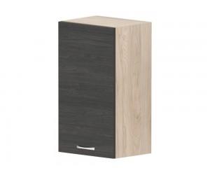 Кухненски горен шкаф Дорина G21 с врата 40 см. - рокфорд лайт/дъб карбон