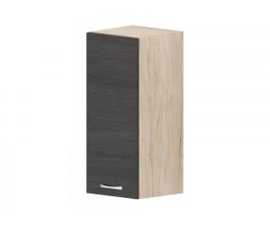 Кухненски горен шкаф Дорина G23 с врата 30 см. - рокфорд лайт/дъб карбон