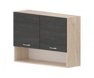 Кухненски горен шкаф Дорина G29 с ниша 100 см. - рокфорд лайт/дъб карбон