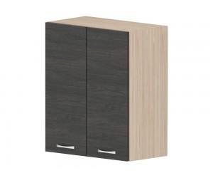 Кухненски горен шкаф Дорина G49 с врати 60 см. - рокфорд лайт/дъб карбон