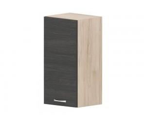 Кухненски горен шкаф Дорина G60 с врата 35 см. - рокфорд лайт/дъб карбон