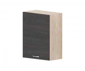 Кухненски горен шкаф Дорина G80 с врата 55 см. - рокфорд лайт/дъб карбон