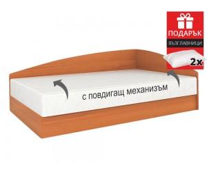 Легло Аполо 4 120/190 - Орех - с включен матрак и подарък две възглавници