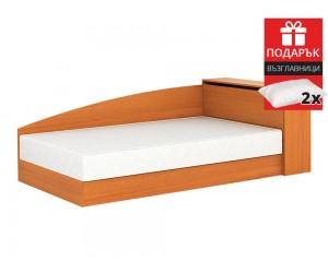 Легло Аполо 8 120/190 - Орех - с включен матрак и подарък възглавници