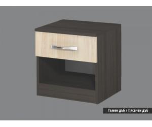 Нощно шкафче Аполо тъмен/пясъчен дъб