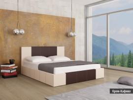 Тапицирано легло Казабланка Крем/Кафяв мат