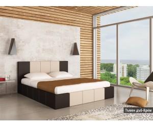 Тапицирано легло Казабланка Тъмен дъб/крем мат