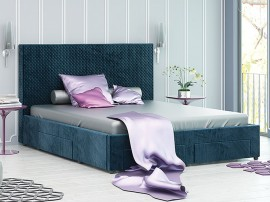 Тапицирано легло Велато - Дамаска Велуто Блу