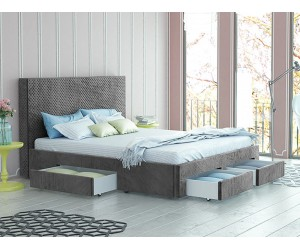 Тапицирано легло Велато - Дамаска Велуто Елефант