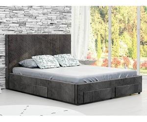 Тапицирано легло Велато - Дамаска Велуто Еспресо