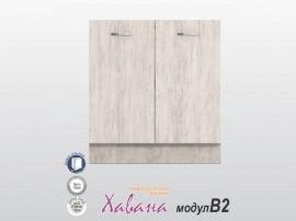 Долен кухненски шкаф Хавана B2 80 см. - дъб бланко