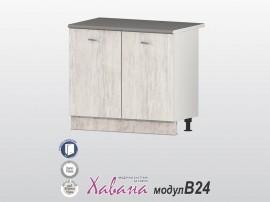 Долен кухненски шкаф Хавана B24 100 см. - дъб бланко
