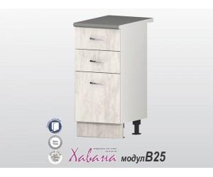 Долен кухненски шкаф Хавана B25 40 см. - дъб бланко