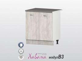 Долен кухненски шкаф Хавана B3 80 см. - дъб бланко