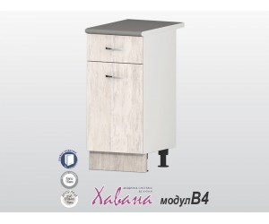 Долен кухненски шкаф Хавана B4 40 см. - дъб бланко