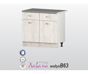 Долен кухненски шкаф Хавана B63 100 см. - дъб бланко