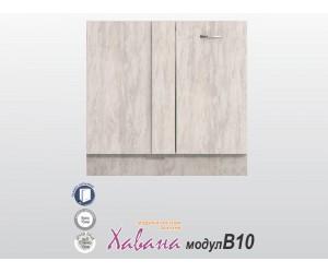 Долен ъглов кухненски шкаф Хавана B10 100 см. - дъб бланко