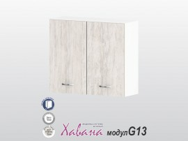 Горен кухненски шкаф Хавана G13 80 см. - дъб бланко