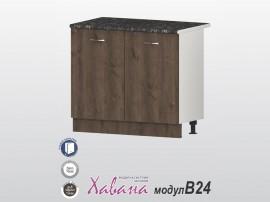 Долен кухненски шкаф Хавана B24 100 см. - дъб марон