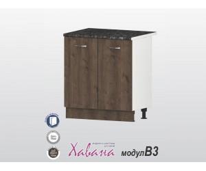 Долен кухненски шкаф Хавана B3 80 см. - дъб марон