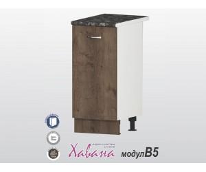 Долен кухненски шкаф Хавана B5 40 см. - дъб марон
