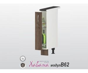 Долен шкаф - бутилиера Хавана B62 15 см. - дъб марон