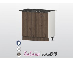 Долен ъглов кухненски шкаф Хавана B10 100 см. - дъб марон