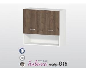 Горен кухненски шкаф Хавана G15 80 см. - дъб марон