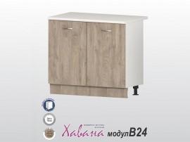 Долен кухненски шкаф Хавана B24 100 см. - дъб норте