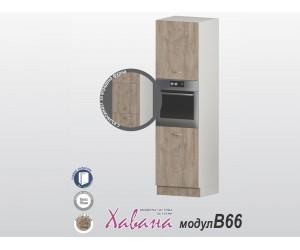 Колонен кухненски шкаф Хавана B66 600 см. - дъб норте