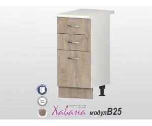 Долен кухненски шкаф Хавана B25 40 см. - дъб норте