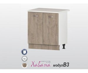 Долен кухненски шкаф Хавана B3 80 см. - дъб норте