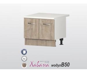 """Шкаф за печка """"Раховец"""" Хавана B50 60 см. - дъб норте"""