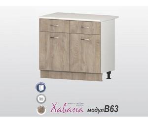 Долен кухненски шкаф Хавана B63 100 см. - дъб норте