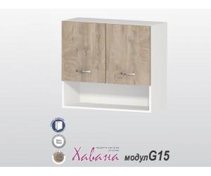 Горен кухненски шкаф Хавана G15 80 см. - дъб норте