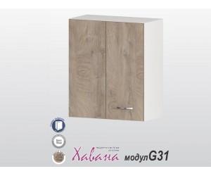 Горен ъглов шкаф Хавана G31 60 см. - дъб норте