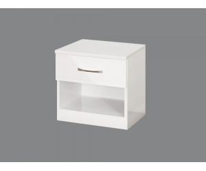 Нощно шкафче Аполо 1- Бяло гланц