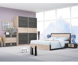 Спален комплект Дорис 2 - дъб сонома/дъб карбон