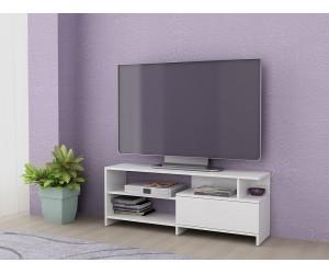 ТВ шкаф Алфа 70 - Бяло гланц