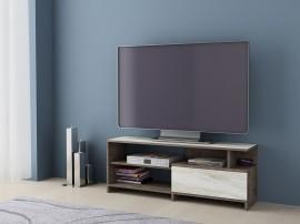 ТВ шкаф Алфа 70 - Колониален дъб/Бял мрамор