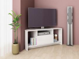 ТВ шкаф Алфа 60 - Бял гланц