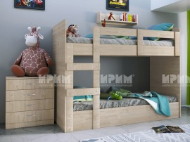 Двуетажно детско легло Сити 5015