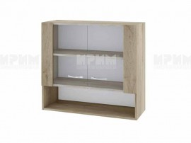 Горен кухненски шкаф Сити АРДА-10 с витринни врат- 80 см.