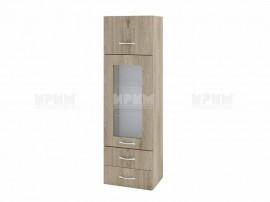 Горен кухненски шкаф Сити АРДА-101 с витрина и чекмеджета - 40 см.