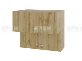 Горен кухненски шкаф Сити АРДД-107 с хоризонтални врати - 80 см.