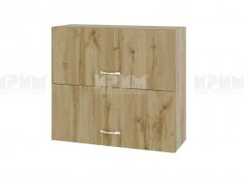 Горен кухненски шкаф Сити АРДД-12 с хоризонтални врати - 80 см.