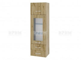 Горен кухненски шкаф Сити АРДД-101 с витрина и чекмеджета - 40 см.