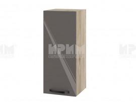 Горен шкаф за кухня Сити АРФ-Антрацит гланц-05-1 МДФ - 30 см.