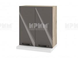 Горен кухненски шкаф за аспиратор АРФ-Антрацит гланц-05-13 МДФ - 60 см.